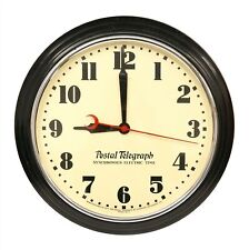 Vintage Hammond Postal Telegraph Synchronous Electric Time Wall Clock - WORKING!