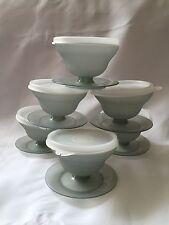 Tupperware Dessert Cups 754 w lids 733 Smoke Gray Ice Cream Custard