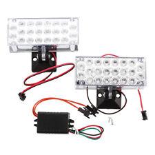 2 x 22 LED Car Flashing Emergency Light Grill Strobe Flash Lamp 12V Red V7D B4G4