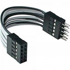 Cavo USB 2.0 Interno 2 x IDC 10 Pin Maschio / Femmina 5cm Prolunga Adattatore PC