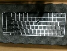 New listing Hp 840 g3 keyboard non backlit with pointer silver with frame