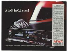 "Aiwa AD-R550 Quick-Reverse 1985 Original Print Ad 9 x 11"" Playboy Magazine VTG"