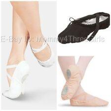 NEW Sansha White & Black Canvas Split Sole Ballet Shoes Adult Sizes
