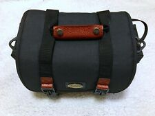Canon Camera Lens Bag Organizer Retro Black With Leather Trim