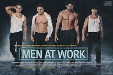Channing Tatum, Matt Bomer, Joe Manganiello 9pg + cover EW feature, clippings