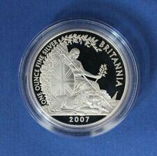 2007 Silver Proof 1oz Britannia £2 coin in Capsule