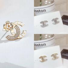 UK Women Ladies Earrings Jewellery Accessories Letter Bling Bling Earrings Gift