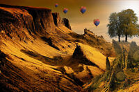 """perfect oil painting handpainted on canvas """"hot air balloons in the sky"""" NO4228"""