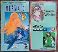 """Snow White / Alice In Wonderland"" & ""The Little Mermaid"" Starmaker VHS Lot Of 2"