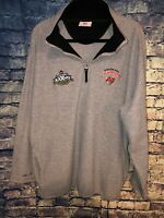 Mens New NFL 1/4 Zip Fleece Jacket Super Bowl XXXVII Buccaneers Champs Size XL