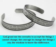 12x Serenity prayer Stainless steel Bracelets Wristbands Wholesale Mens Bangles