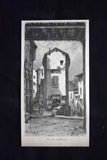 Una via di Mentone Incisione del 1882