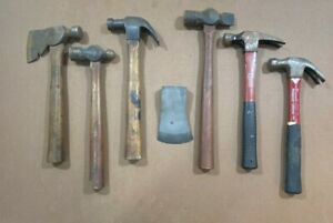 Vintage Plumb Hatchet Hammer Carpenters Roofing Claw Axe ~ Lot of 7