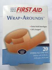 """3/4"""" x 4 & 11/16"""" Wrap-Around FABRIC ADHESIVE FLEXIBLE BANDAGES BAND AID 20/box"""