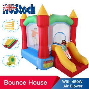 Inflatable Trampoline Bounce House Kids Jumping Castle Toy Bouncer with Blower