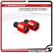 Barracuda Coppia Terminali Manubrio Contrappesi Universali ANTIVIBRANTI Rosso