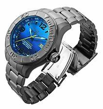 Invicta 200m Men Fire Blue Stealth Triple Black Grand Pro Diver Auto SS Watch