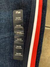 nwt TOMMY HILFIGER Denim Stretch Slim Tapered Jeans Striped Size 34x30 MSRP $109