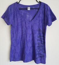 Zumba Wear Women's Purple Short Sleeve Workout Top Shirt Athletic Wear Size L
