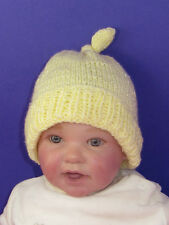PRINTED KNITTING INSTRUCTIONS--BABY TOPKNOT BEANIE KNITTING PATTERN