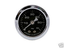 Liquid Filled Oil Pressure Gauge 0-60 psi - BLACK face -Harley Davidson