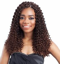 "FreeTress Hair Braid Premium Synthetic Water Wave Bulk 12"" Crochet Braid ShakeNG"