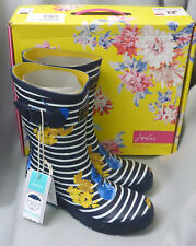 Joules Molly Welly Navy Lily Stripe Wellingtons Wellies Festival Ladies Box Sz 8