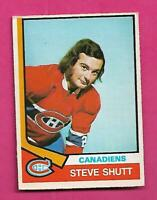1974-75 OPC # 316 CANADIENS STEVE SHUTT  ROOKIE VG CARD (INV# D0965)