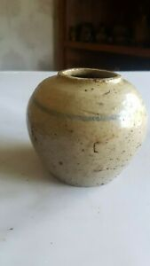 EARLY CHINESE GINGER JAR / POT DUG UP ON 1860,s DUMP