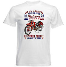 VINTAGE ITALIAN MOTORCYCLE MOTO GUZZI FALCONE - NEW COTTON T-SHIRT
