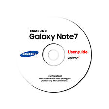 Samsung Galaxy Note 7 Android Cell Phone SM-N930V Verizon User Manual on CD