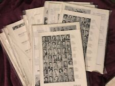 10 Vintage Yearbook Pages, Junk Journal Supplies