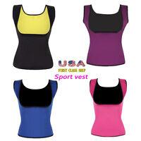 Women Slimming Vest Sweat Body Shaper Push Up Neoprene Shirts Cami Yoga Tank Top