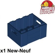 2x Container coffre box caisse 2x2x2 gris fon//dark bluish gray 61780 NEUF Lego