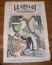 Le Grelot Journal Satirique N°95 Le Jardin Des Oliviers Par Alfred Le Petit 1873