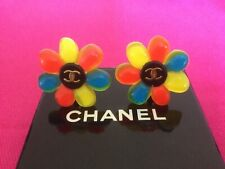 Genuine Rare Vintage Chanel Flower Earrings with original box