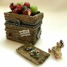 Candice's Apple Crate with Doc McNibble-Boyds Bears Treasure Box #392105 NIB
