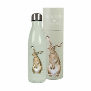 New Wrendale Hare Water Bottle - Drink Bottle Hot or Cold Drinks - Gift Boxed