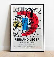 Fernand Leger Exhibition Poster, Fernand Leger Art Print, Wall Art, Vintage Art