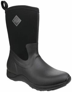 Muck Boots Black Arctic Weekend Pull On Wellington Boots
