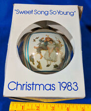 1983 5th Norman Rockwell Painting Xmas Tree Ball Ornament Schmid Sweet Song So