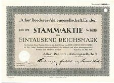 Atlas Reederei AG Emden  1929     Schulte & Bruns