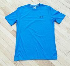 Under Armour Men's Ss Casual Cotton Tee Shirt Run Gym Blue sz S Loose Veuc