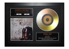 More details for pearl jam gold disc album ltd edition framed picture memorabilia