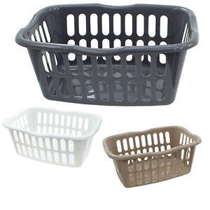 Washing Basket Laundry Plastic 40L Hamper Hipster Clothes Storage Bedding Linen
