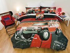 Double Quilt Cover Set 4 x 4 Hummer Style Car Truck Urban ExplorerPoly Cotton