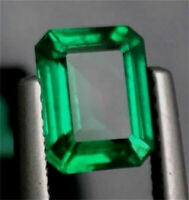 10.38ct Natural Mined Green Emerald Colombia Emerald Cut AAAAA+ Loose Gemstone