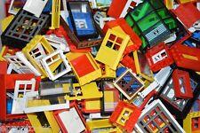 10x LEGO porte e finestre Assortiti Misti compresi i supporti accessori autentici