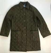 Salvatore Ferragamo Silk Quilted Jacket Coat Logo Printed Inner Buttons Pockets