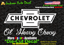 Chevy Chevrolet Bow tie Retro old Truck Car Window Vinyl Decal Bumper Sticker